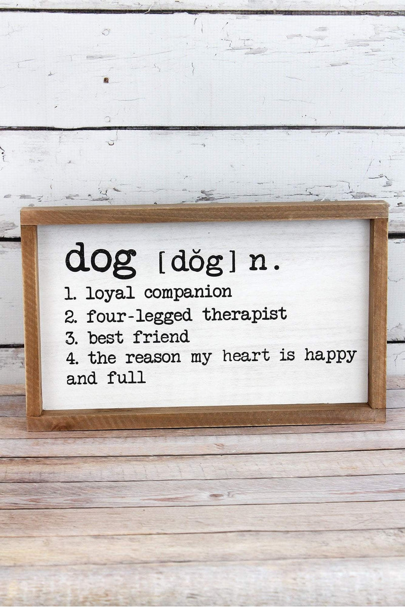 8.25 x 14 Dog Definition Framed Wood Box Sign