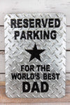 14 x 10 'Reserved Parking' Punched Tin Wall Sign