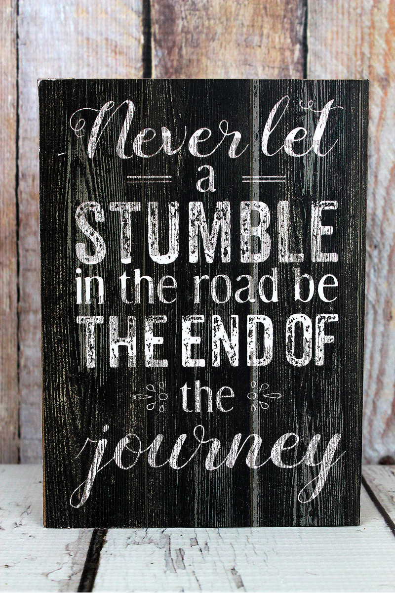 7 x 5 'End Of The Journey' Wood Box Sign