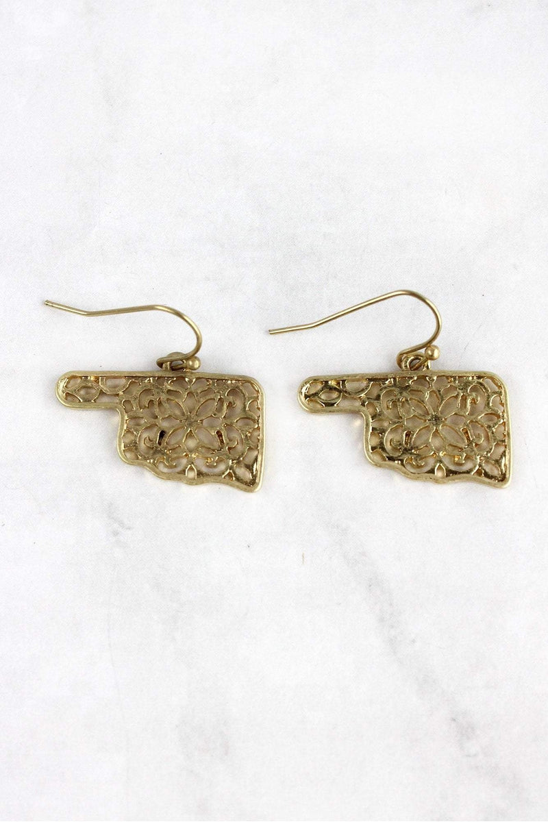 Crave Goldtone Filigree Oklahoma Earrings
