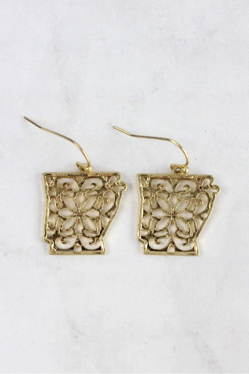 Crave Goldtone Filigree Arkansas Earrings