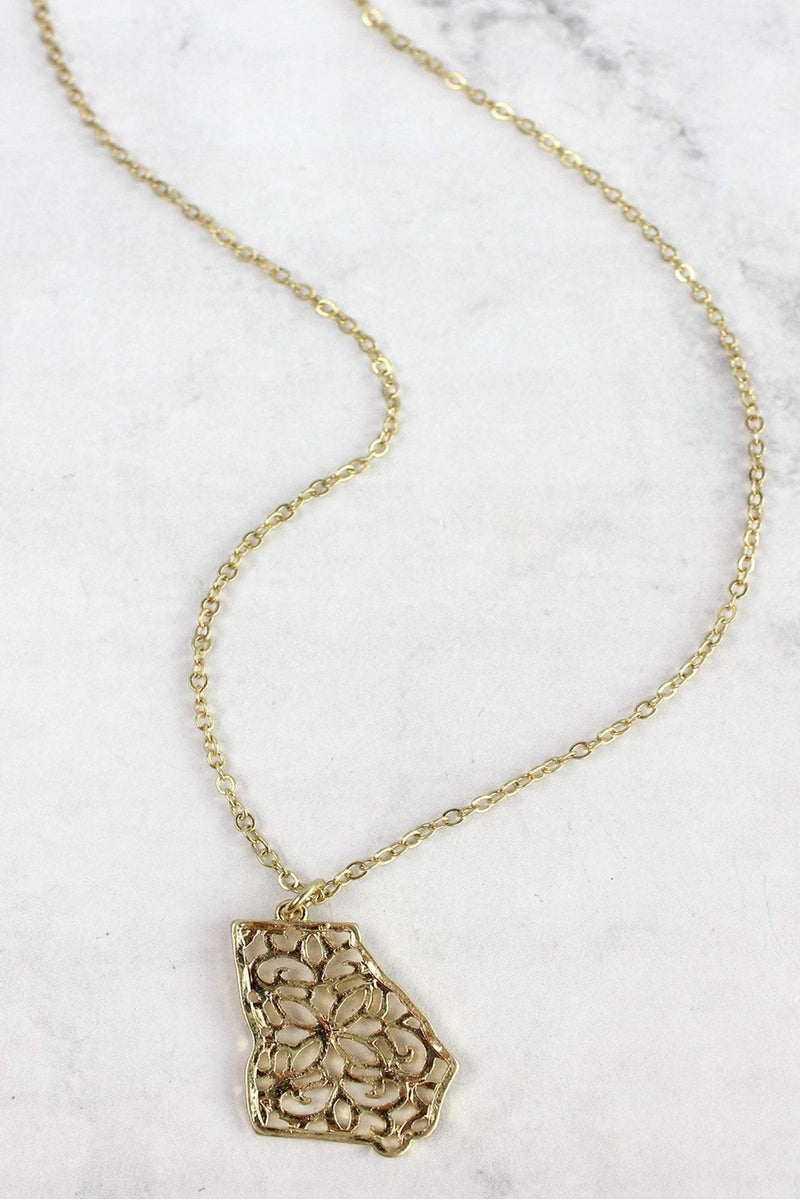 Crave Goldtone Filigree Georgia Necklace