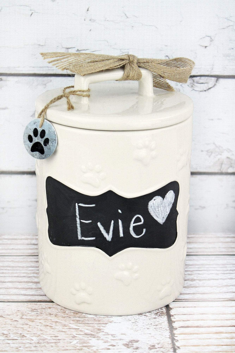 Ceramic Chalkboard Dog Treat Jar, 9""