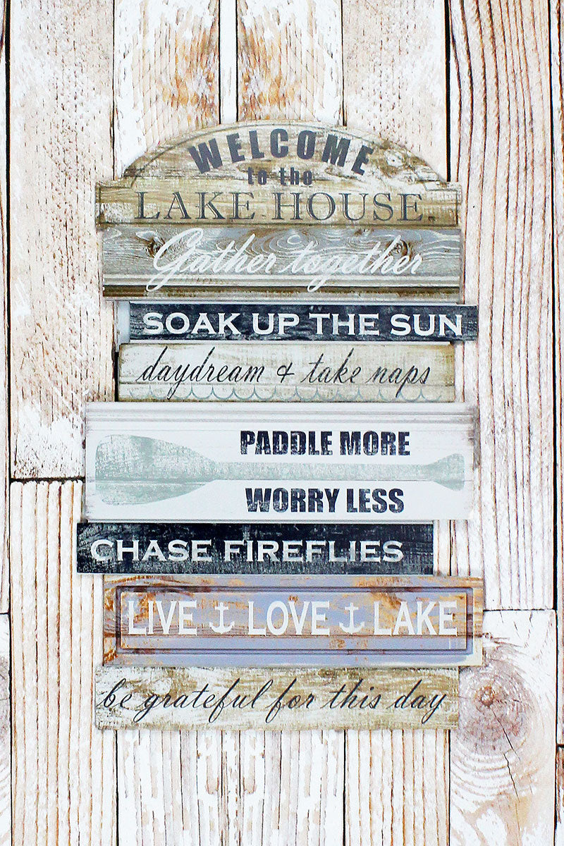 25.25 x 16.25 'Welcome To The Lake House' Wood Wall Sign