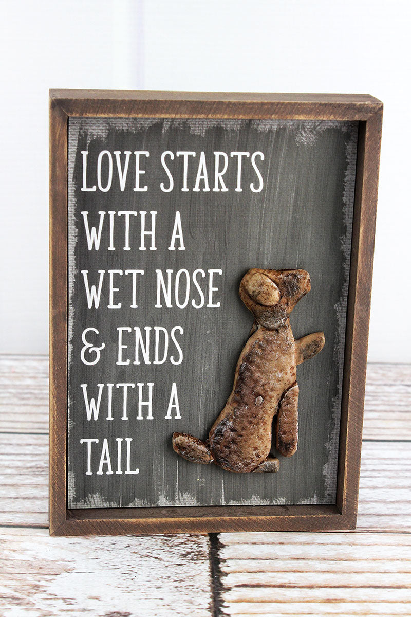 7 x 5 'Wet Nose' Stone Dog Sign