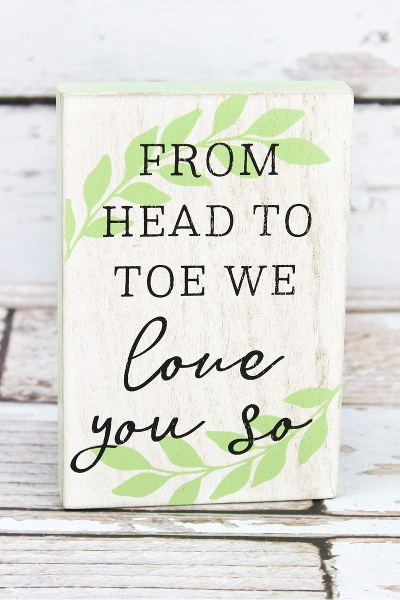6 x 4 'From Head To Toe' Wood Block Sign