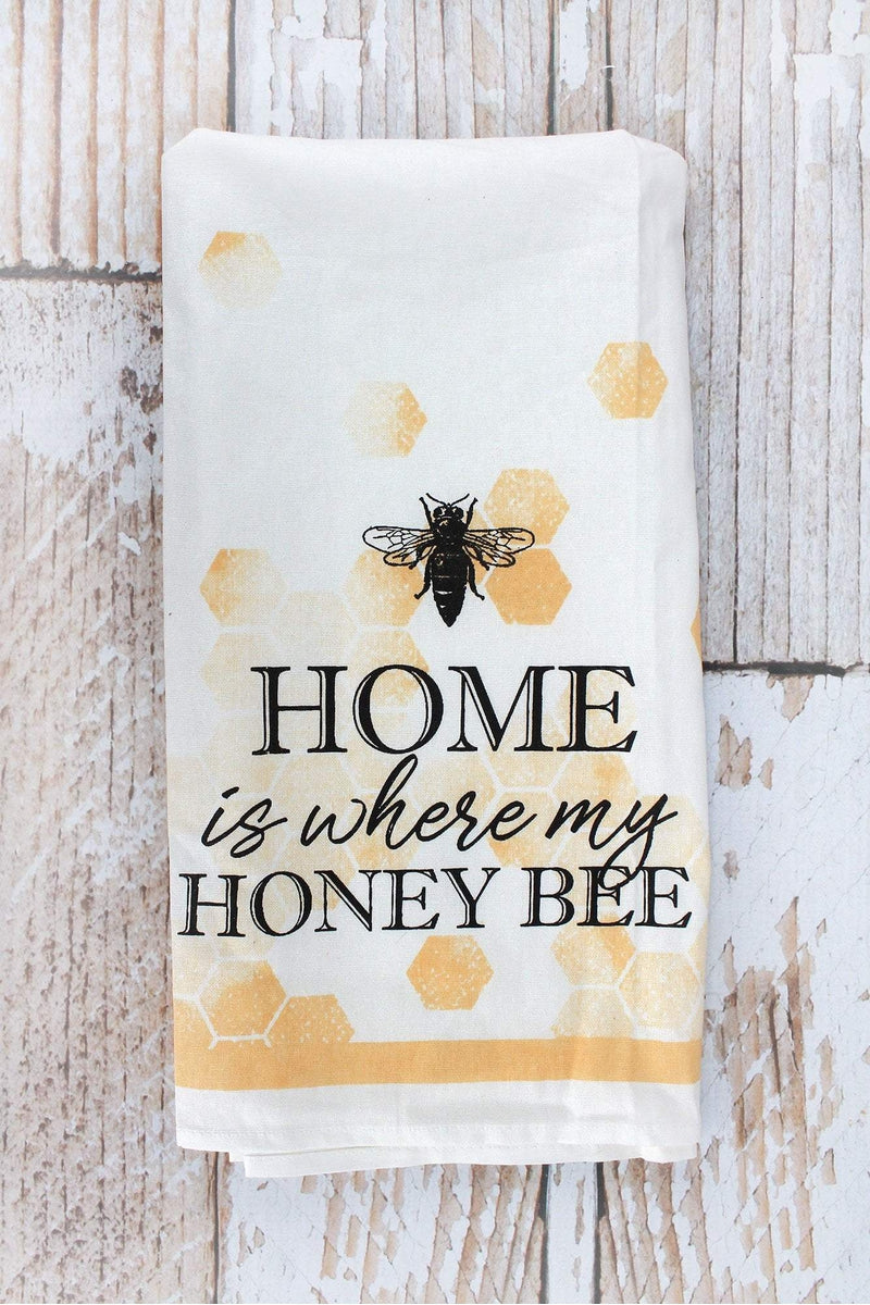 Home Is Where My Honey Bee Tea Towel