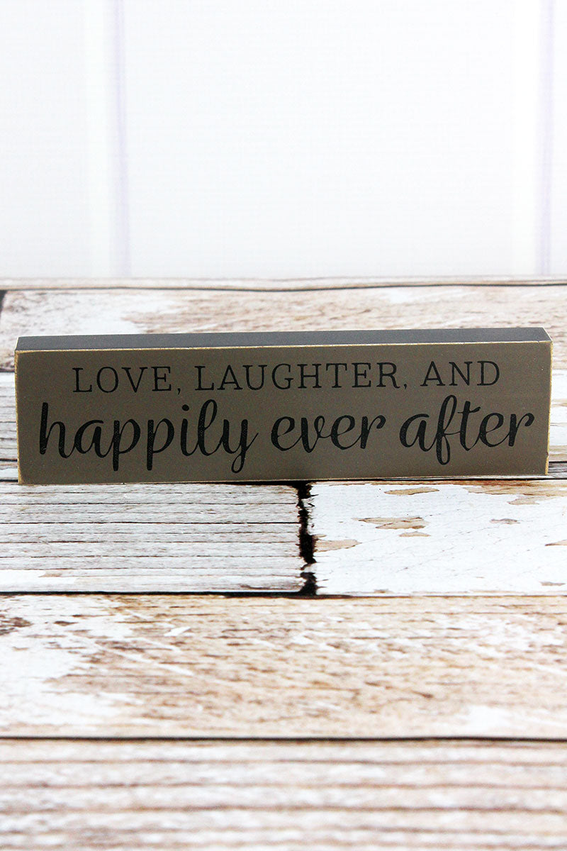 2 x 7.25 'Happily Ever After' Wood Block Sign