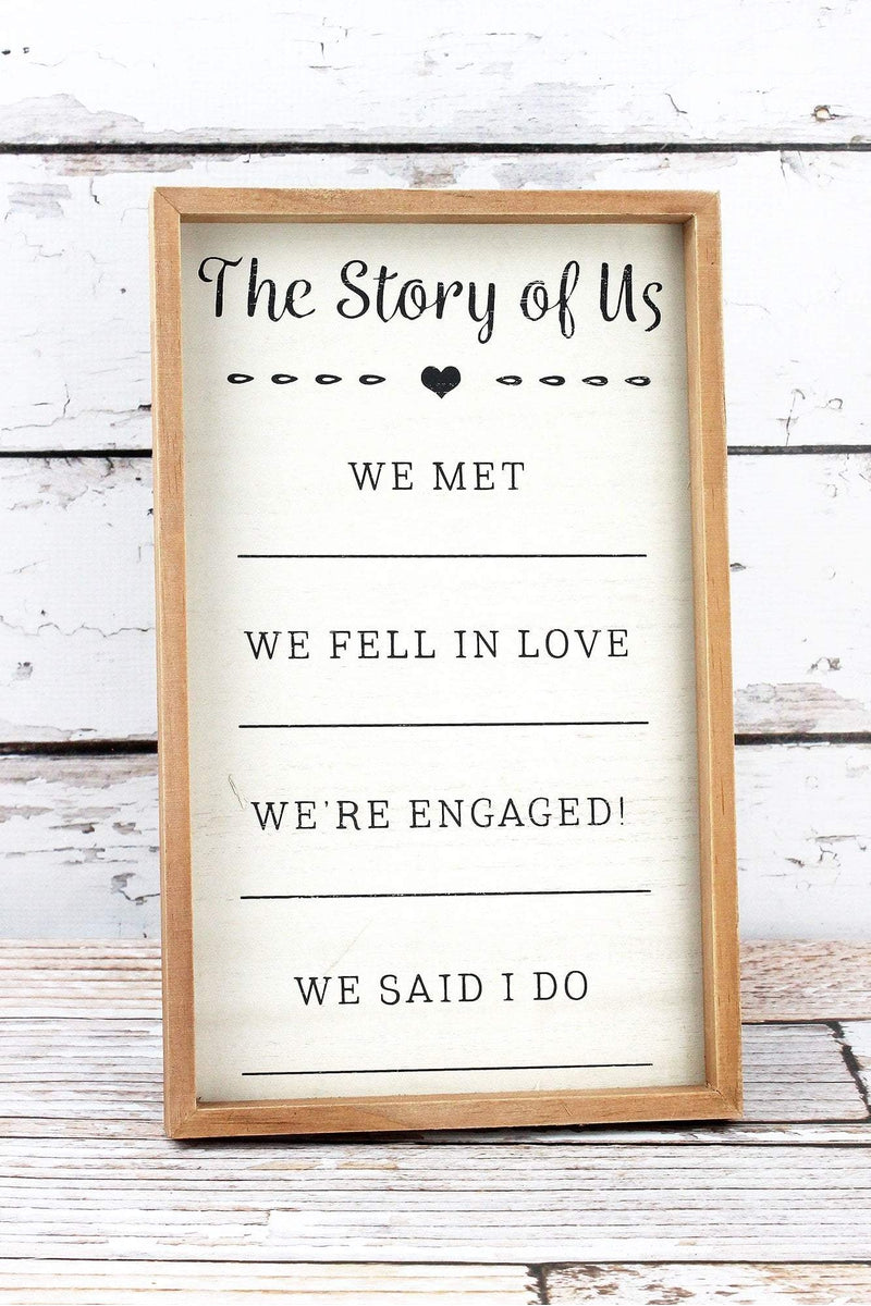 13 x 8 'The Story Of Us' Framed Wood Sign