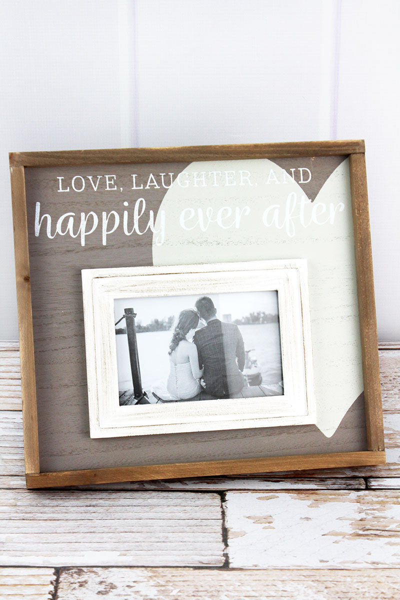 11 x 12 'Happily Ever After' Wood 4x6 Photo Frame
