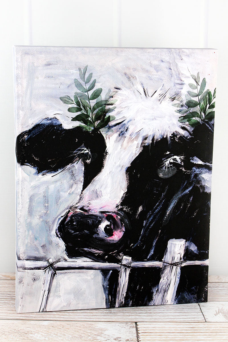 20.75 x 15.5 Cow Canvas Wall Art