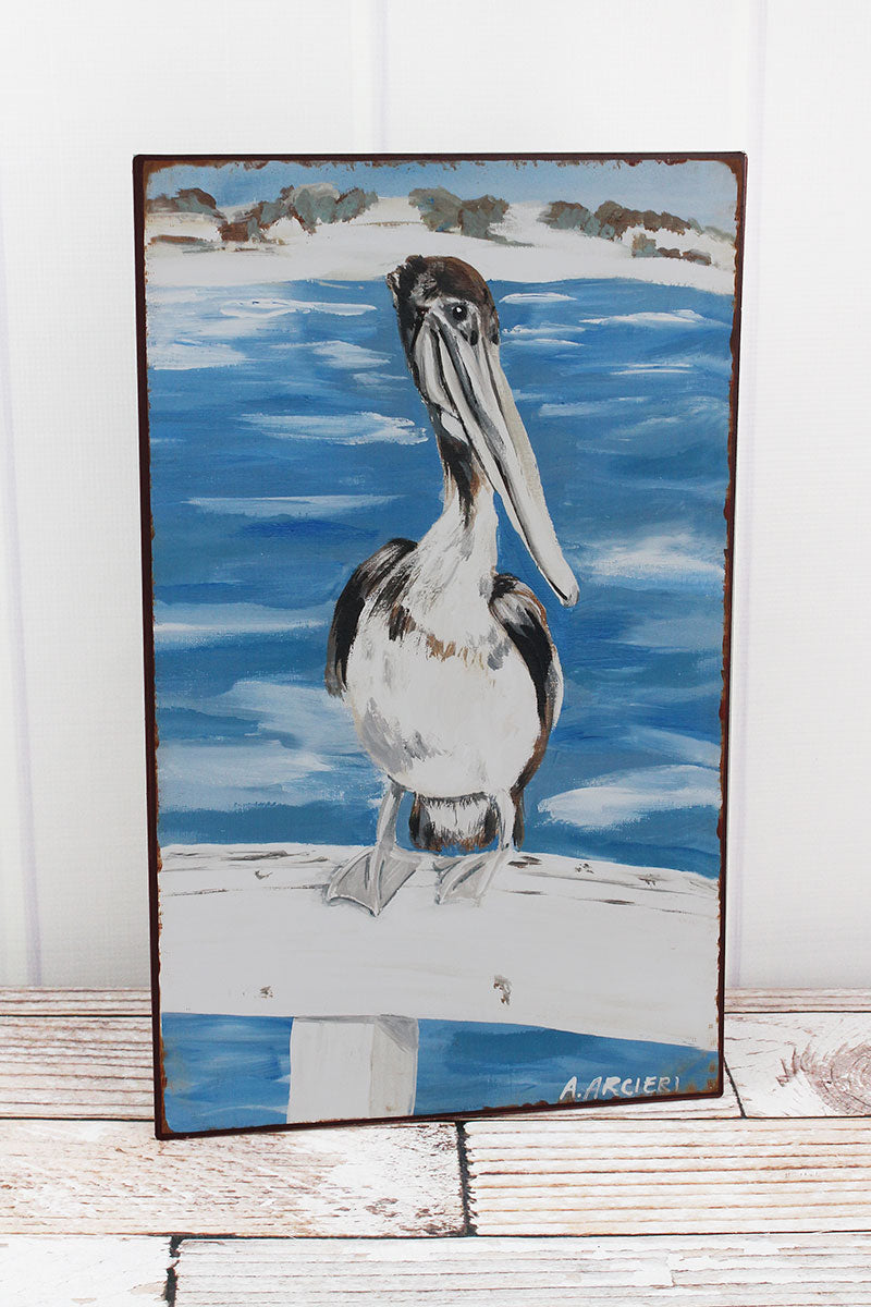 18 x 11 Pelican Iron Wall Art