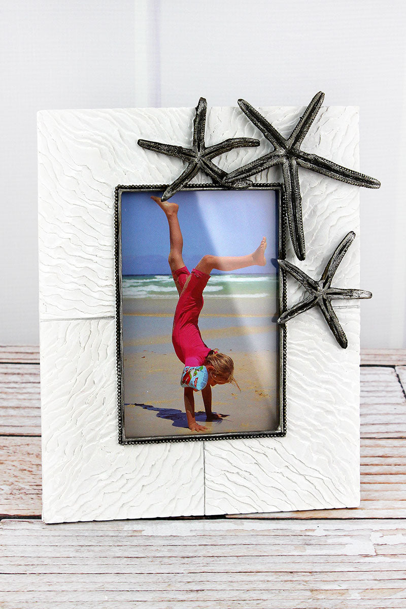 9.5 x 8 Resin Starfish 4x6 Photo Frame