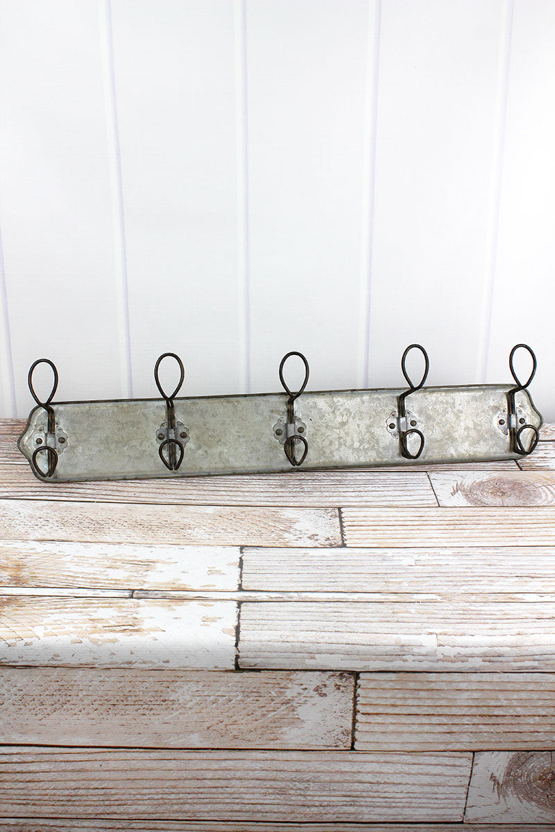 7 x 31 Antiqued Metal Wall Hook