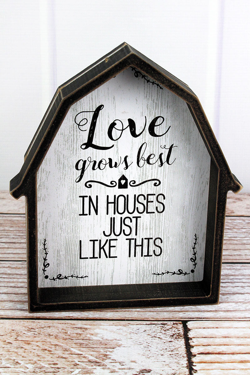 9 x 8 'Love' Wood Framed Barn Sign