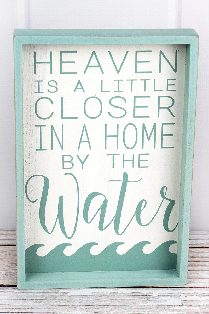 12 x 8 'Heaven Is A Little Closer' Wood Framed Wall Sign
