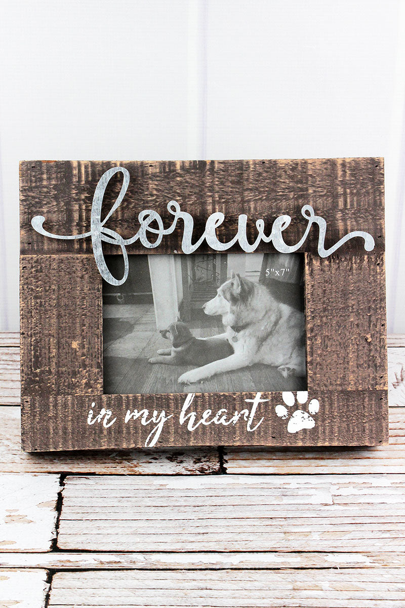 9.25 x 11.75 'Forever In My Heart' 5x7 Pet Photo Frame