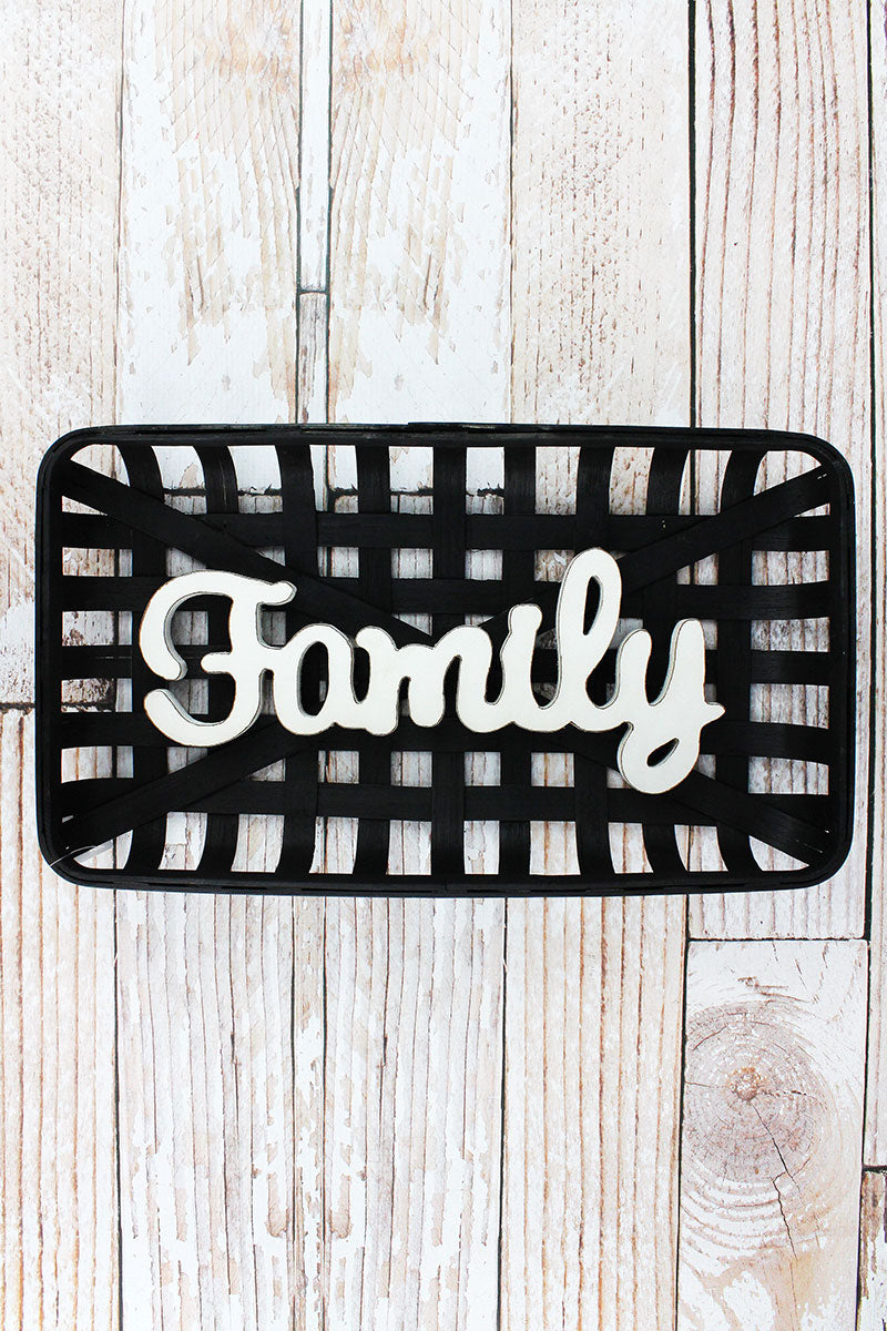 10.25 x 18 'Family' Bamboo Tobacco Basket