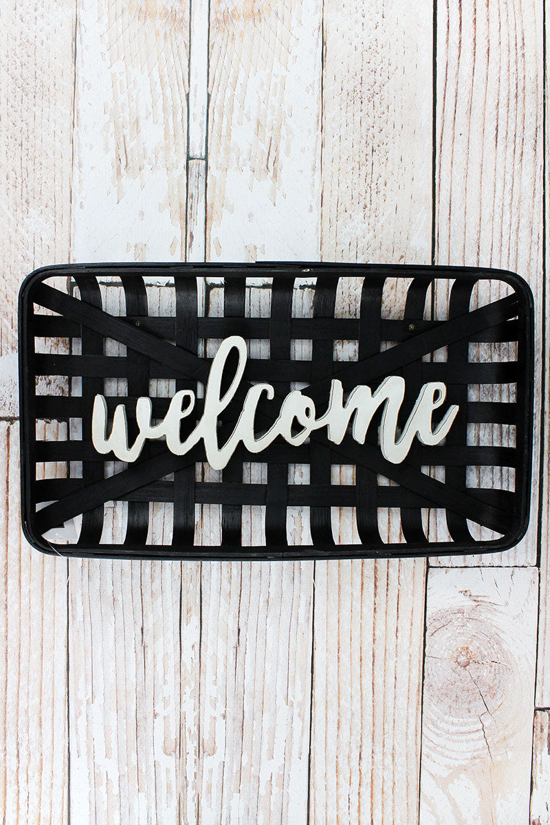 10.25 x 18 'Welcome' Bamboo Tobacco Basket