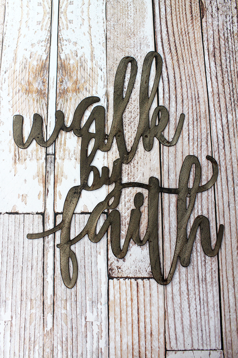 21 x 17 'Walk By Faith' Script Wall Art