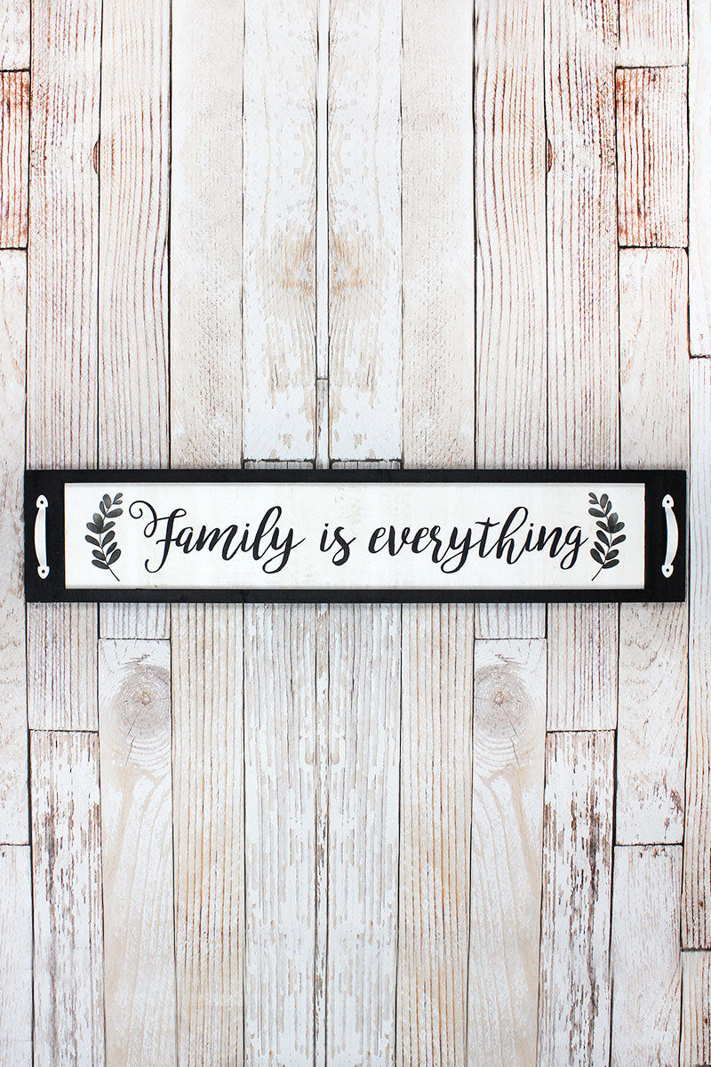 8 x 39 'Family Is Everything' Wood Framed Wall Sign