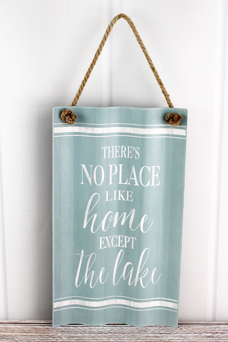 15.75 x 9 'No Place Like Home' Corrugated Iron Wall Sign