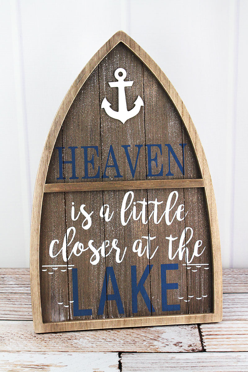 18.75 x 12.25 'Heaven' Wood Boat Sign