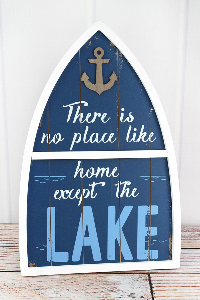18.75 x 12.25 'No Place Like Home' Wood Boat Sign