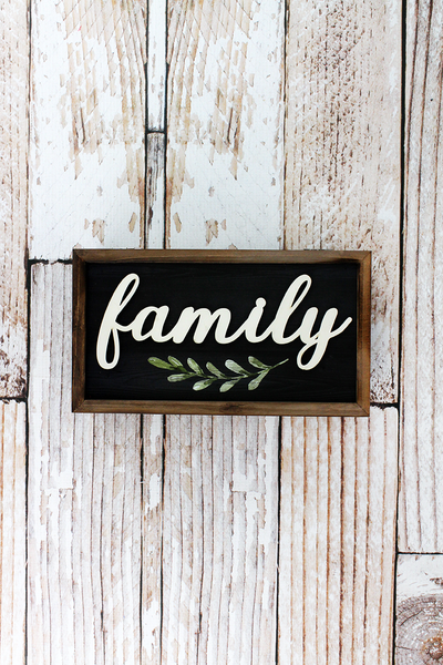 4 x 9.5 'Family' Wood Hinged Keepsake Box