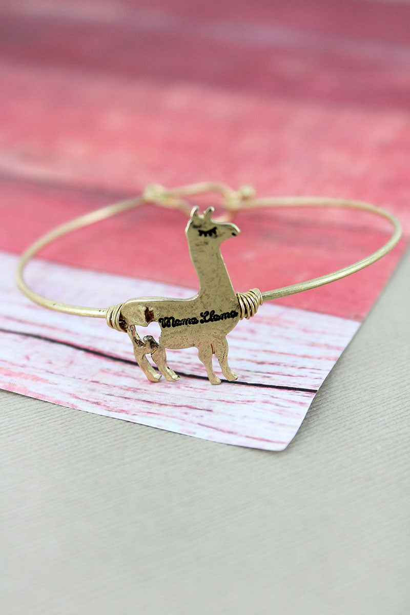 Crave Goldtone 'Mama Llama' Bangle