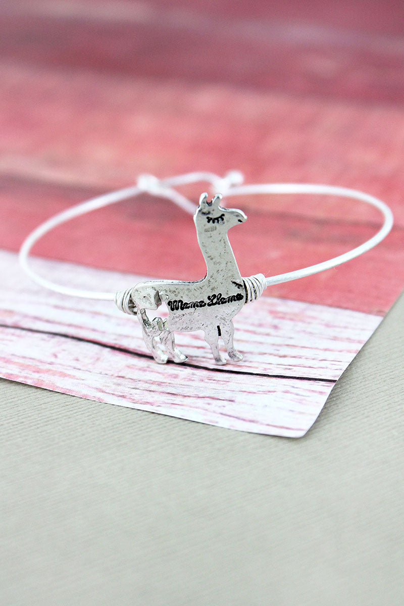 Crave Silvertone 'Mama Llama' Bangle