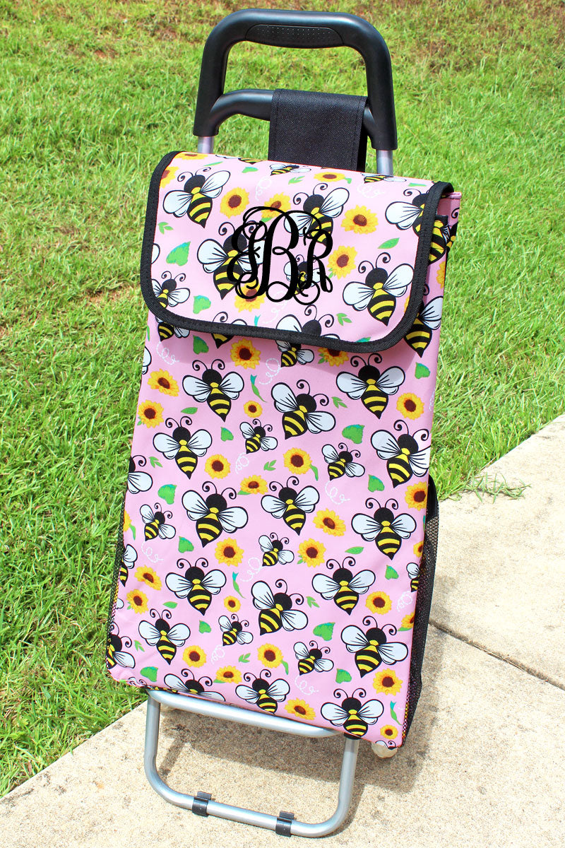 NGIL Busy Bee and Black Rolling Shopper Tote
