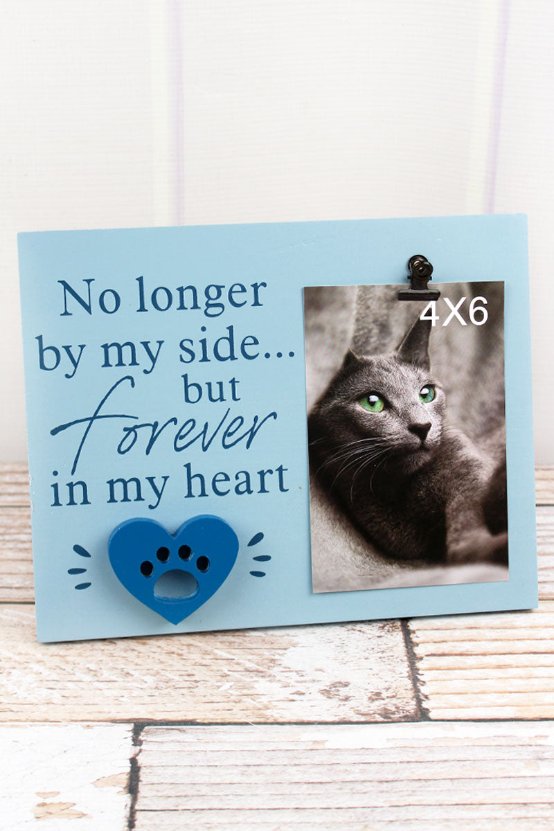 8 x 10 'Forever In My Heart' Wood 4x6 Pet Memorial Photo Display
