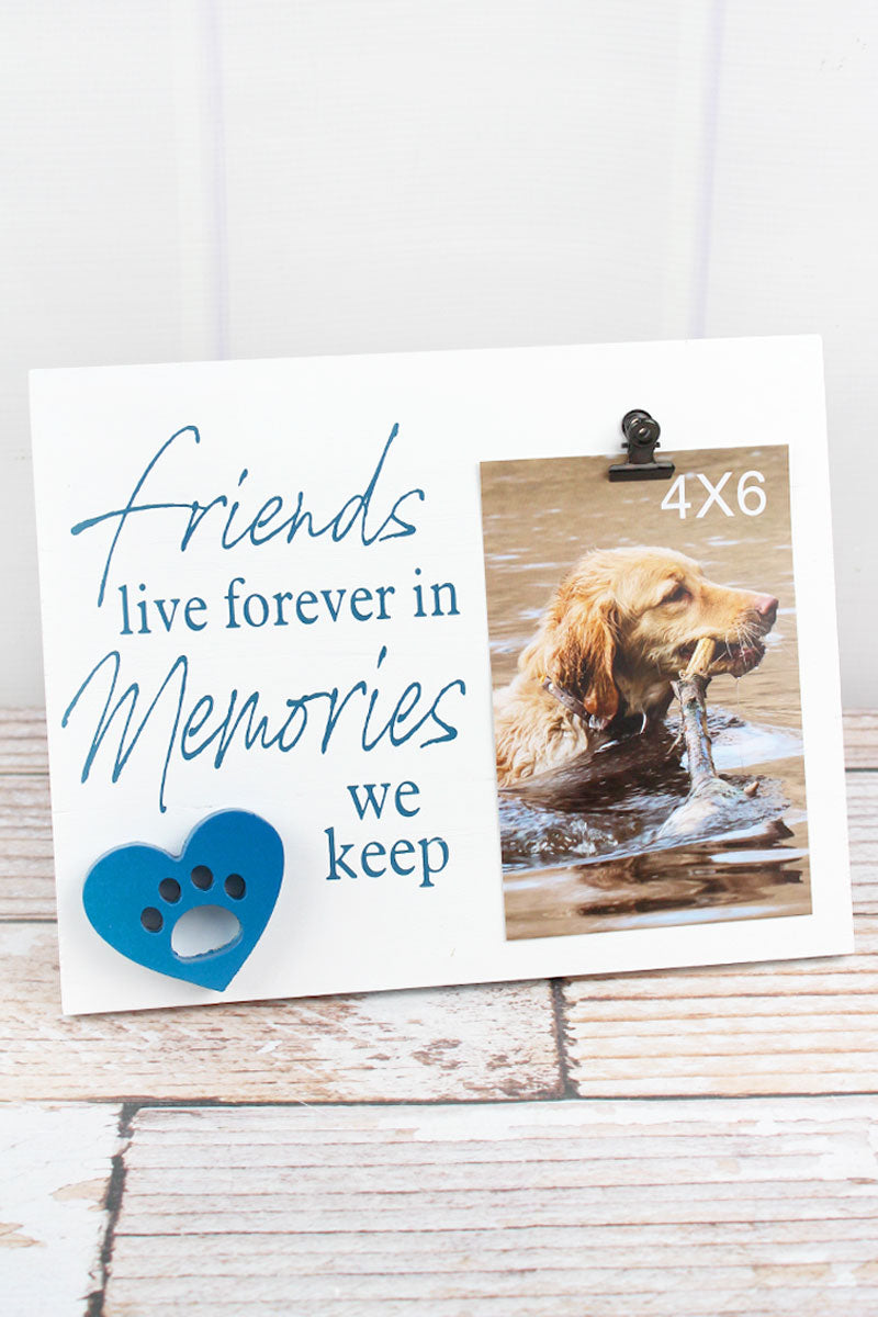 8 x 10 'Forever In Memories' Wood 4x6 Pet Memorial Photo Display