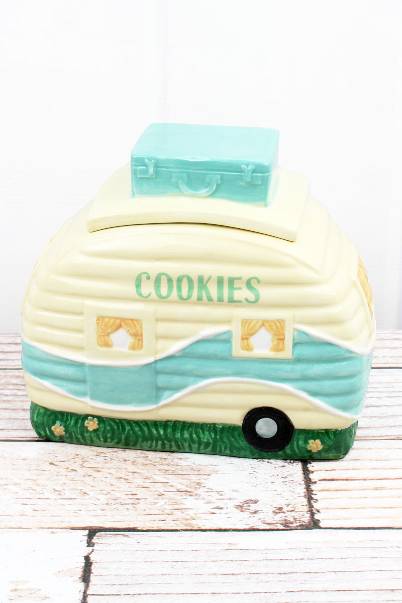 Ceramic Camper Cookie Jar, 7.5""