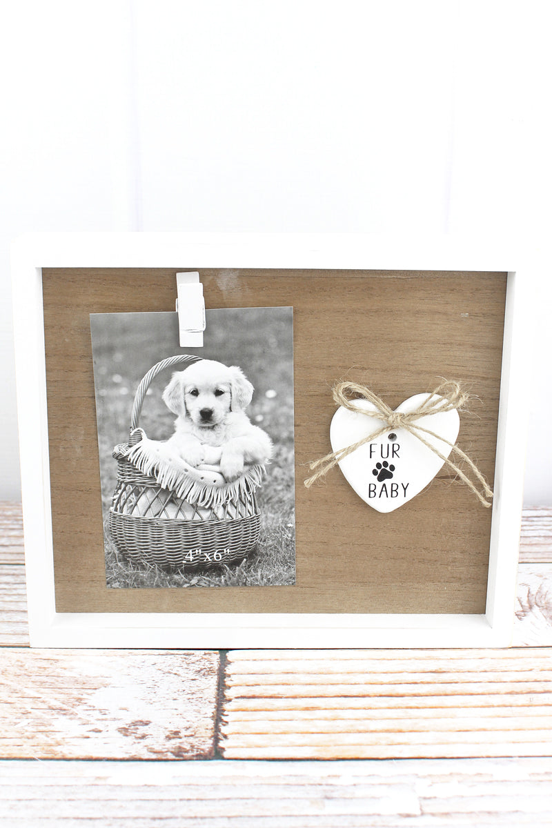 8.25 x 10 'Fur Baby' Wood 4x6 Photo Display