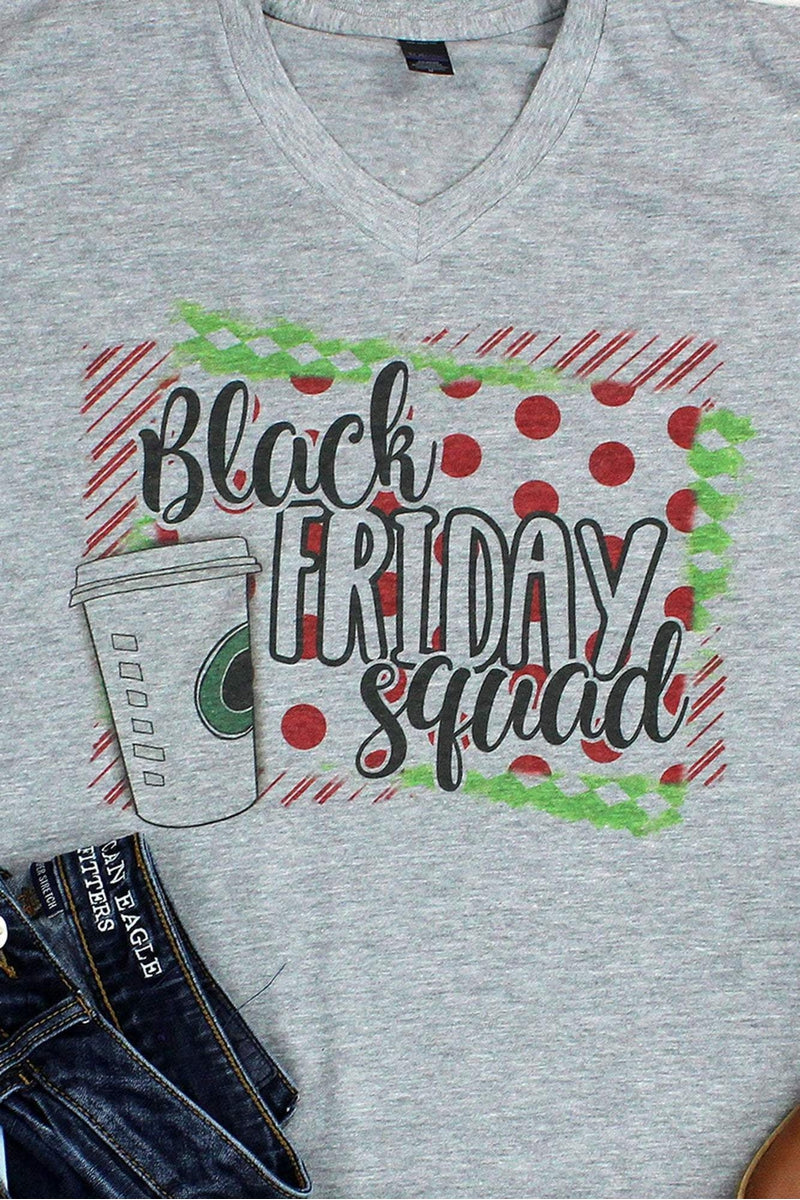 Black Friday Squad Unisex Poly-Rich Blend V-Neck Tee