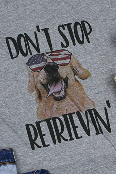 Don't Stop Retrievin' Unisex Poly-Rich Blend V-Neck Tee