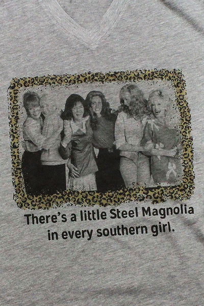 Steel Magnolias Leopard Unisex Poly-Rich Blend V-Neck Tee