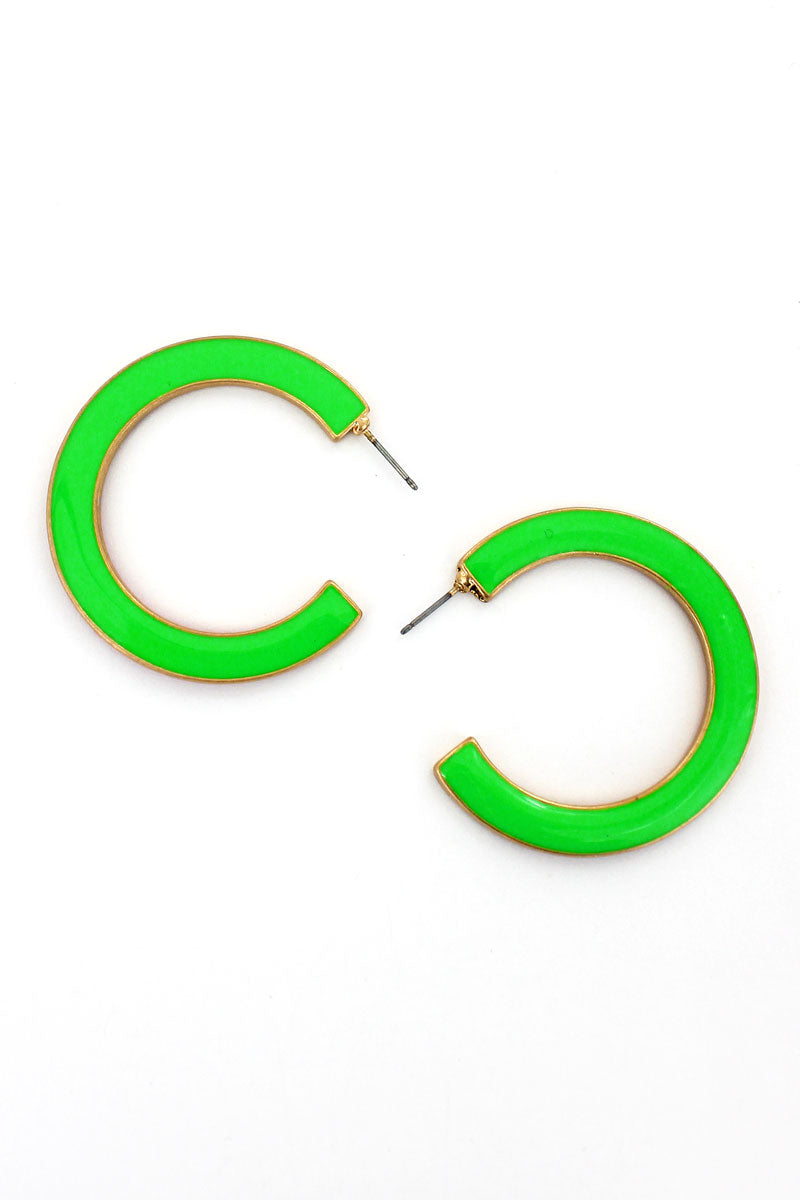 SALE! Crave Fuchsia and Green Reversible Hoop Earrings