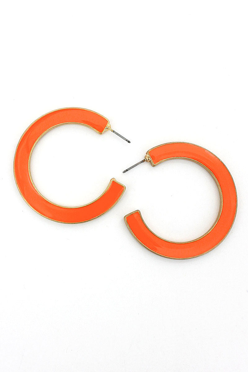 SALE! Orange and Yellow Reversible Hoop Earrings