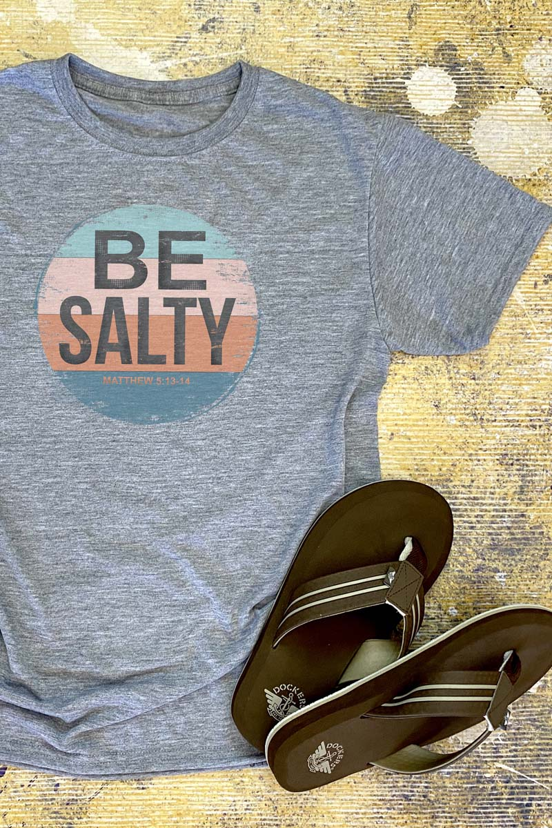 Be Salty Circle Unisex Dri-Power Poly Tee
