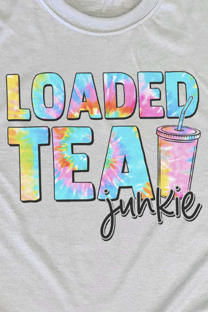 Loaded Tea Junkie Tie Dye Unisex Dri-Power Poly Tee