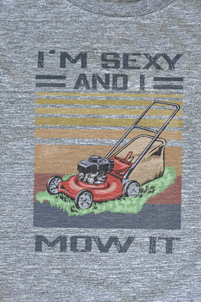 Sexy & I Mow It Unisex Dri-Power Poly Tee