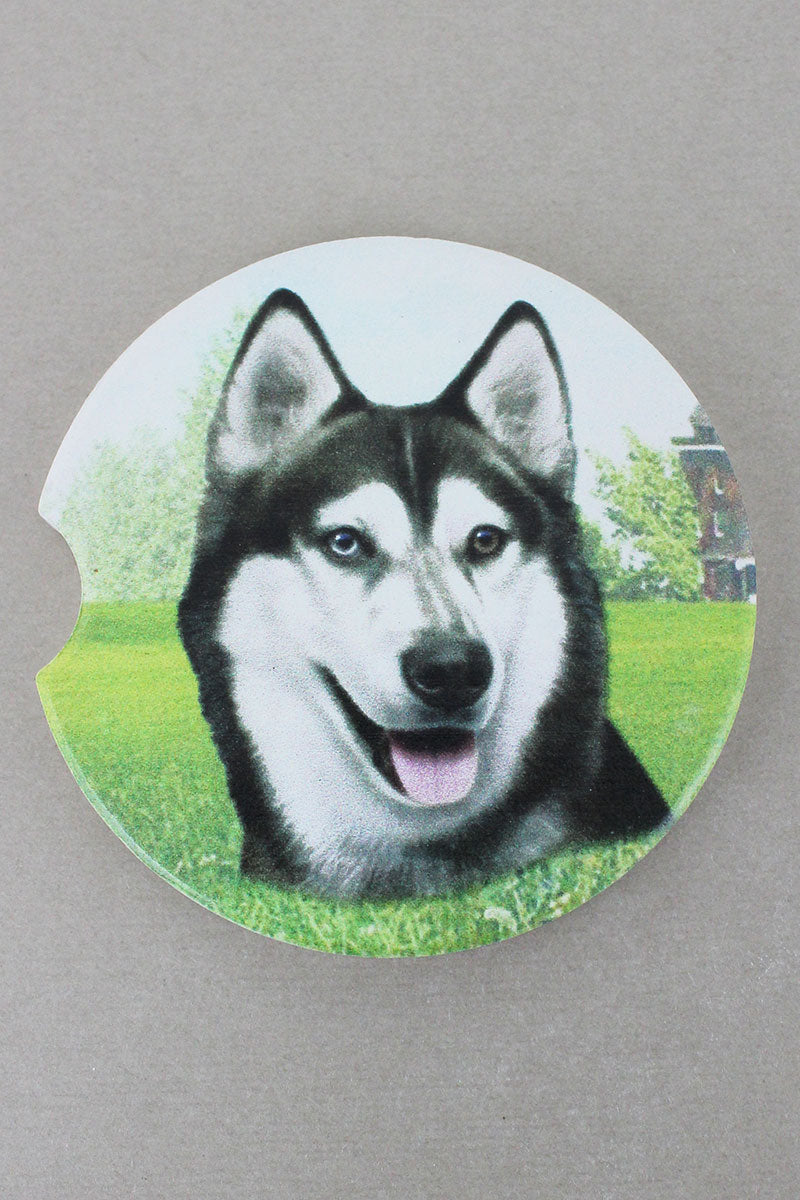 Siberian Husky Car Coaster