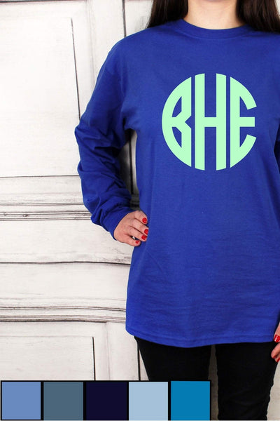Shades of Blue Ultra Cotton Adult Long Sleeve T-Shirt #2400 *Personalize It!