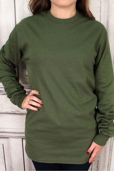 Shades of Green Ultra Cotton Adult Long Sleeve T-Shirt #2400 *Personalize It!