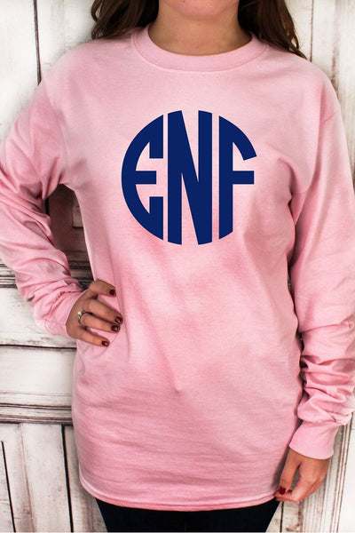 Light Pink Ultra Cotton Adult Long Sleeve T-Shirt #2400 *Personalize It!