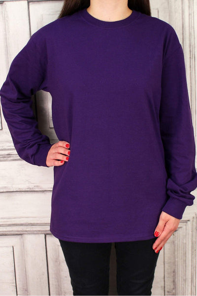Purple Ultra Cotton Adult Long Sleeve T-Shirt #2400 *Personalize It!
