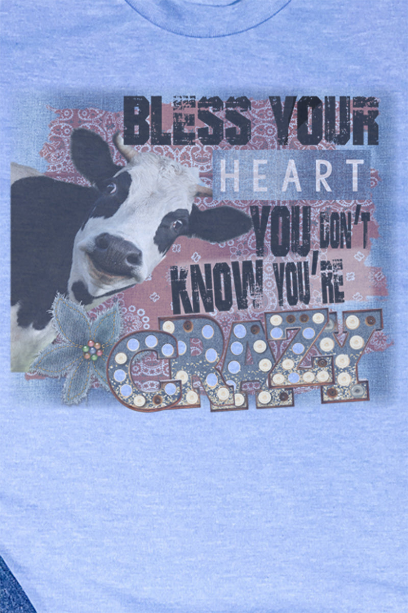 Cow Bless Your Heart Unisex Blend Tee